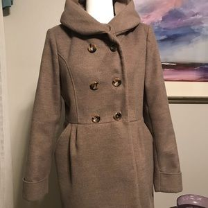 New York and Company Brown lined Coat Medium 8